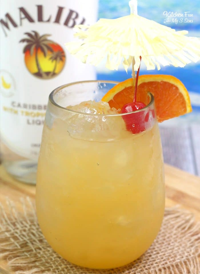 Whether or not you are a banana lover, you should try this Banana Rum Punch. It's as tropical and fun a drink as they come. Perfect for small get-togethers with friends.