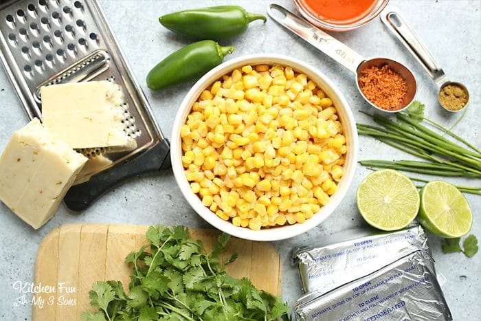 Skillet Mexican Corn Dip is a creamy and spicy dish perfect for get-togethers and football parties. Everyone that loves a little kick will enjoy this!
