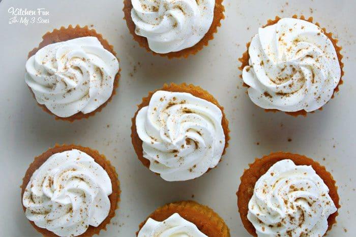 Gorgeous Pumpkin Pie Cupcakes