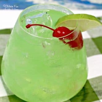 Tipsy Mermaid cocktail is a delicious combo of Blue Curacao, Banana Rum, Spiced Rum and pineapple juice.   Summer Cocktail Recipe   Alcoholic Drinks Recipes