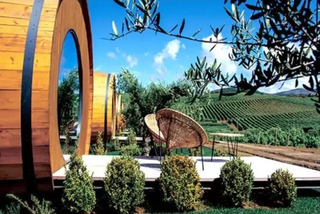Giant Wine Barrel Hotel