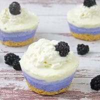 These Blackberry Cheesecake Bites are made with fresh berries and cream cheese with a shortbread cookie crust.