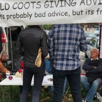 """Old Coots"" Set Up Table At Farmer's Market to Give Free Life Advice"