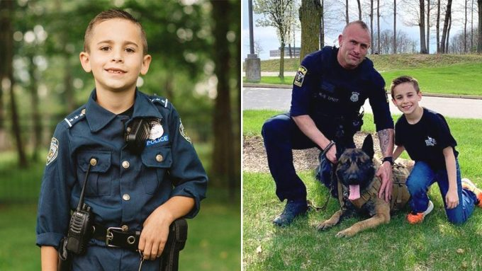 Compassionate 9-Year-Old Boy Raises $80,000 for Police Dogs