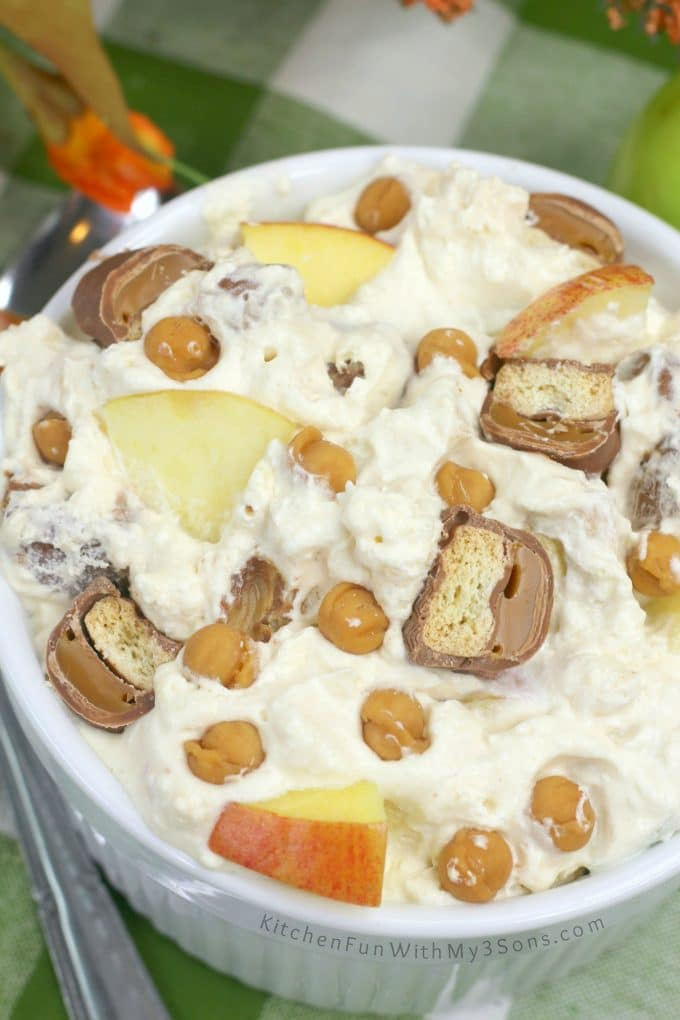Twix Caramel Apple Dessert Salad