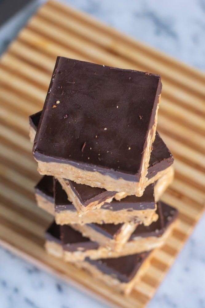 Dark Chocolate Peanut Butter Squares