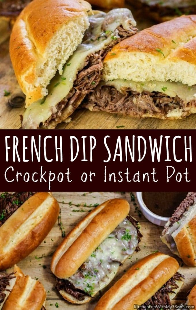 French Dip Sandwich {Instant Pot or Crockpot}
