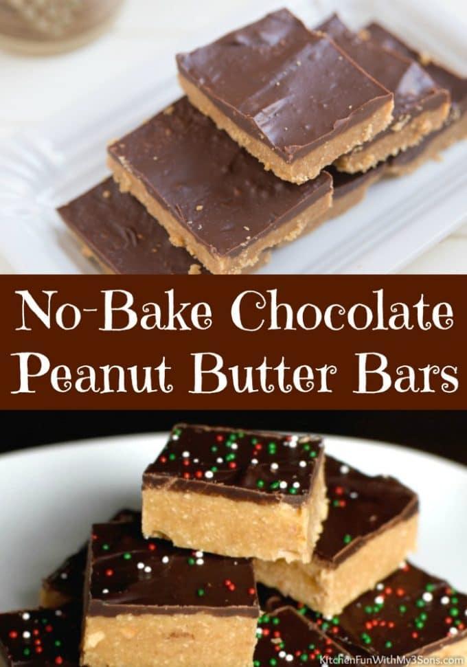 No-Bake-Chocolate Peanut Butter Bars