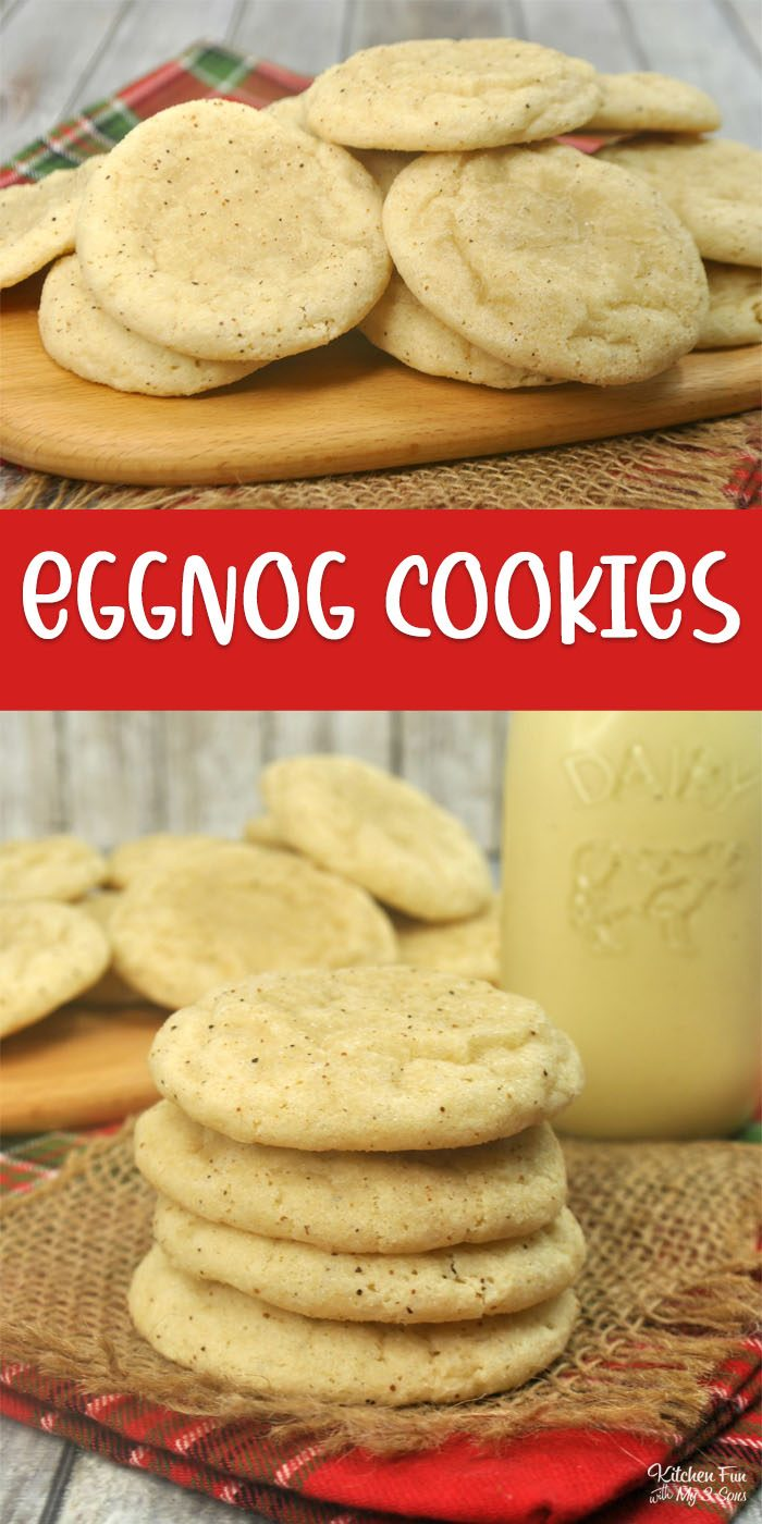 Eggnog Cookies are the absolute best holiday recipe. They're soft, chewy and full of cinnamon and nutmeg flavor. Yes, there's Eggnog inside!
