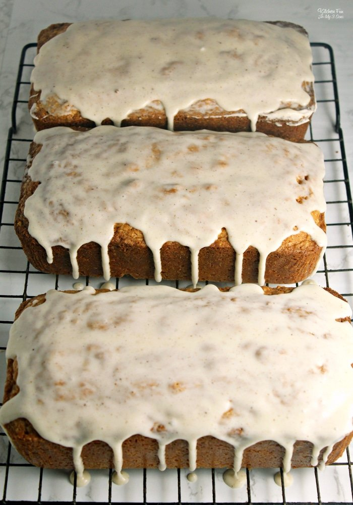 Eggnog Bread with Rum Glaze is a tasty holiday recipe you can have for breakfast or a sweet treat. This goes really well with a warm mug of coffee or hot cocoa.
