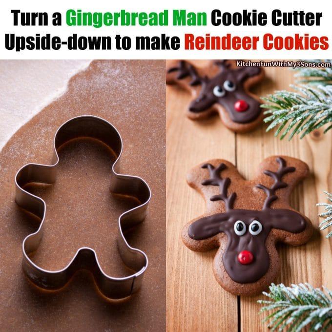 Gingerbread Man Reindeer Cookies