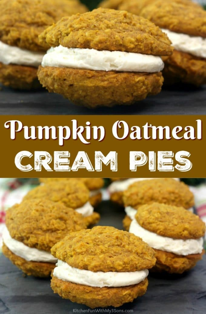 Pumpkin Oatmeal Cream Pies