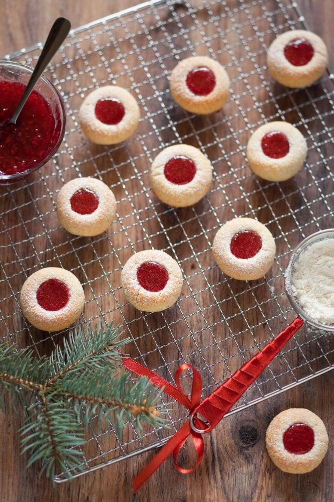 Christmas Cookies on baking rack