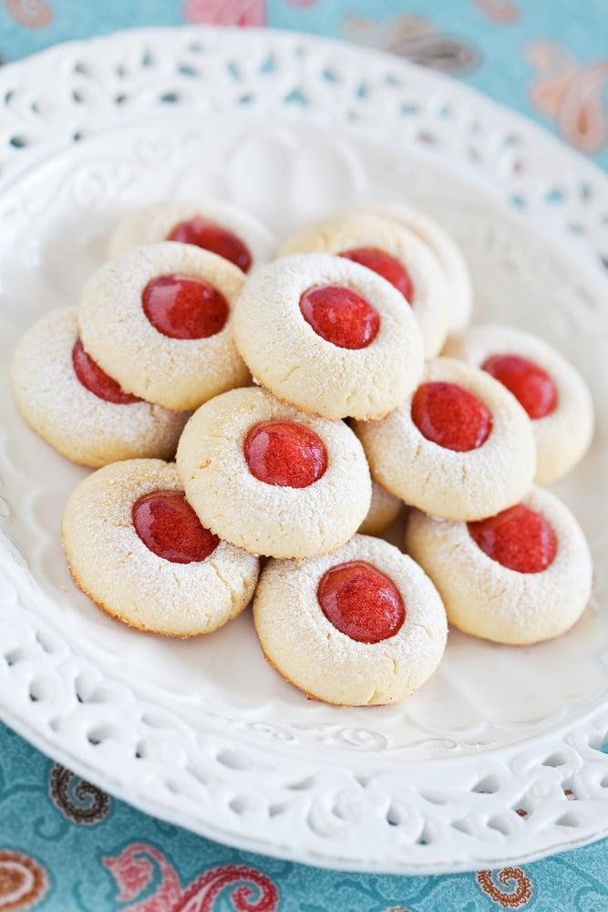 Christmas Thumbprint Cookies