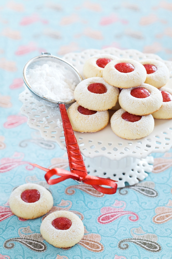 The BEST Jam Thumbprint Cookies