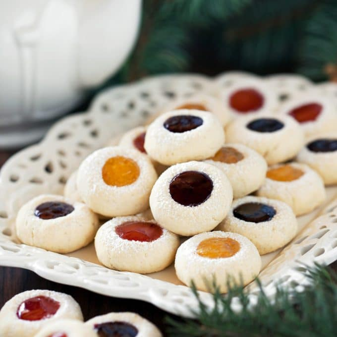 Jam Shortbread Cookies for Christmas