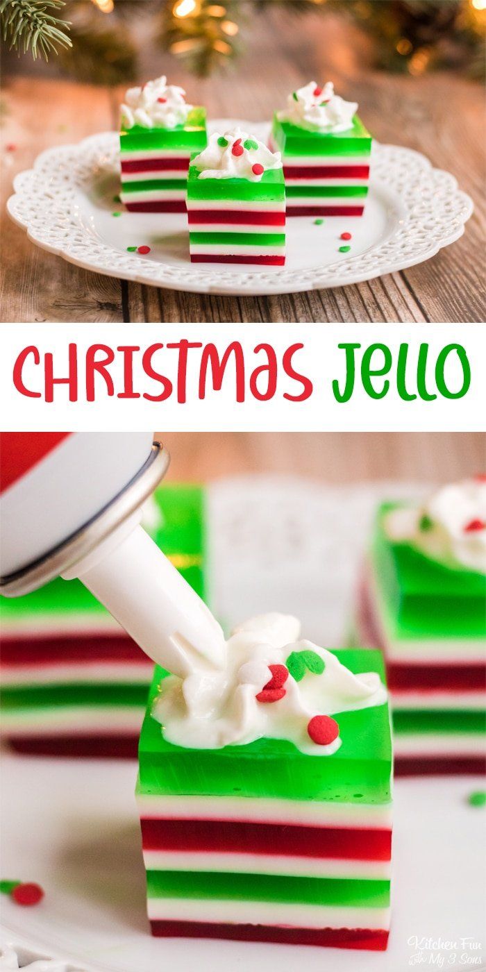 Christmas Jello is a holiday classic dessert for the whole family. It's bright and festive with little effort to make which makes it a favorite of mine!