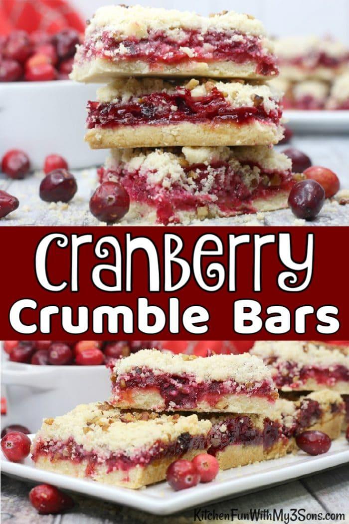 Cranberry crumble bar stacks