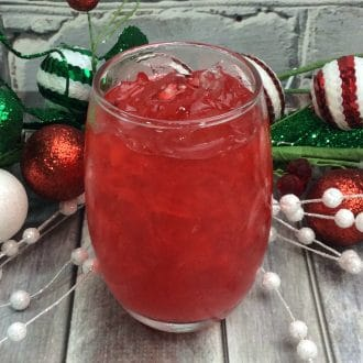 Holly Jolly Punch spiked with Rum