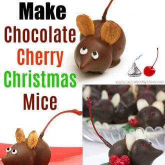 How to make Chocolate Cherry Mice for Christmas!