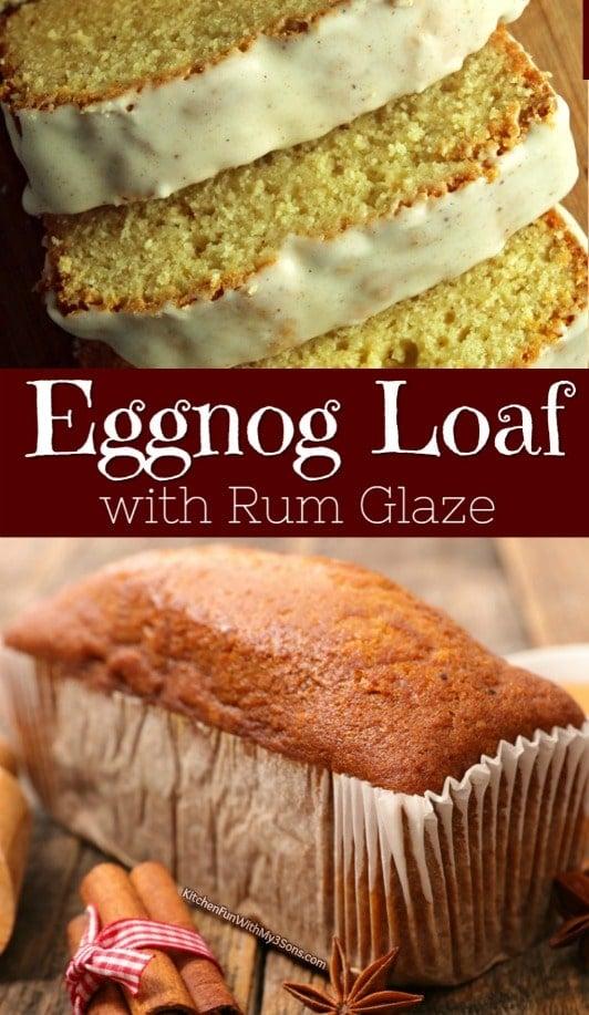 Eggnog Loaf With Rum Glaze