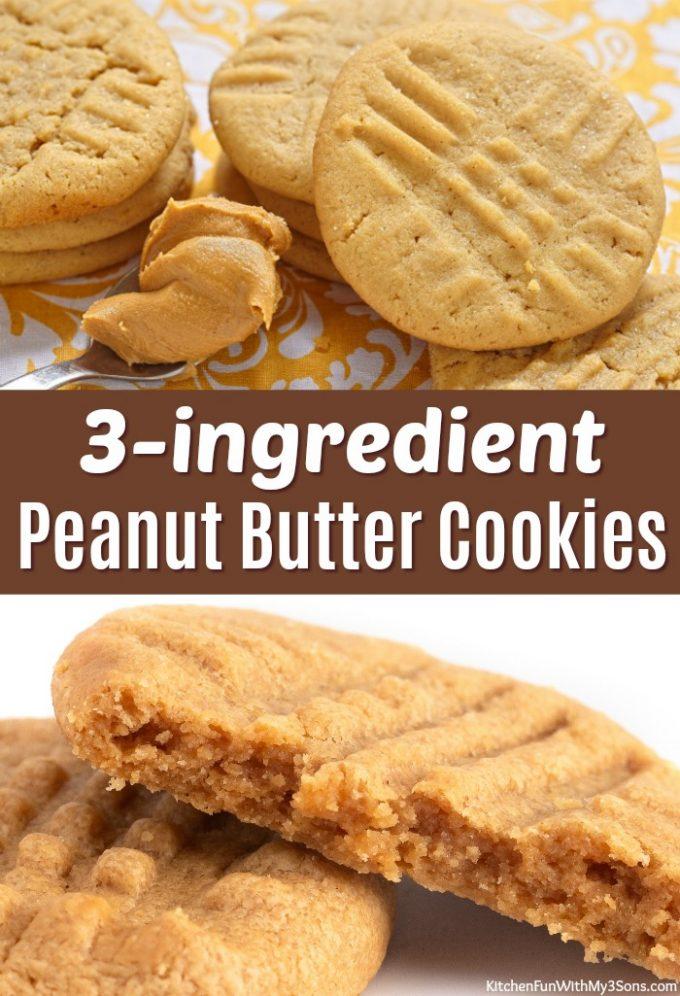 3-ingredient Peanut Butter Cookies