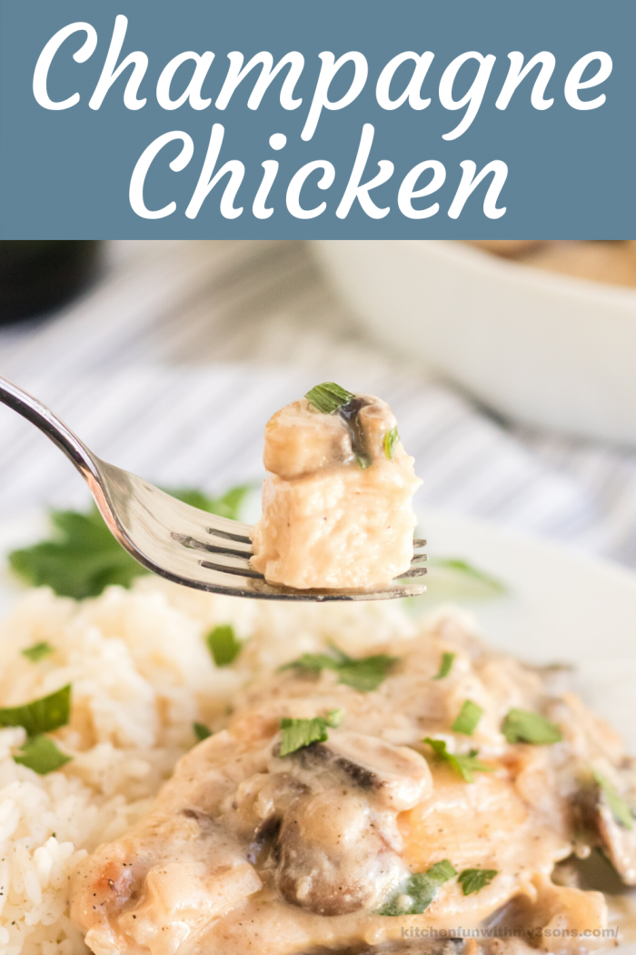 Champagne Chicken picture for pinterest
