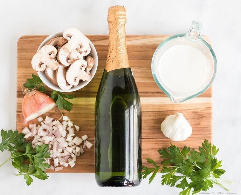 Champagne Chicken ingredients