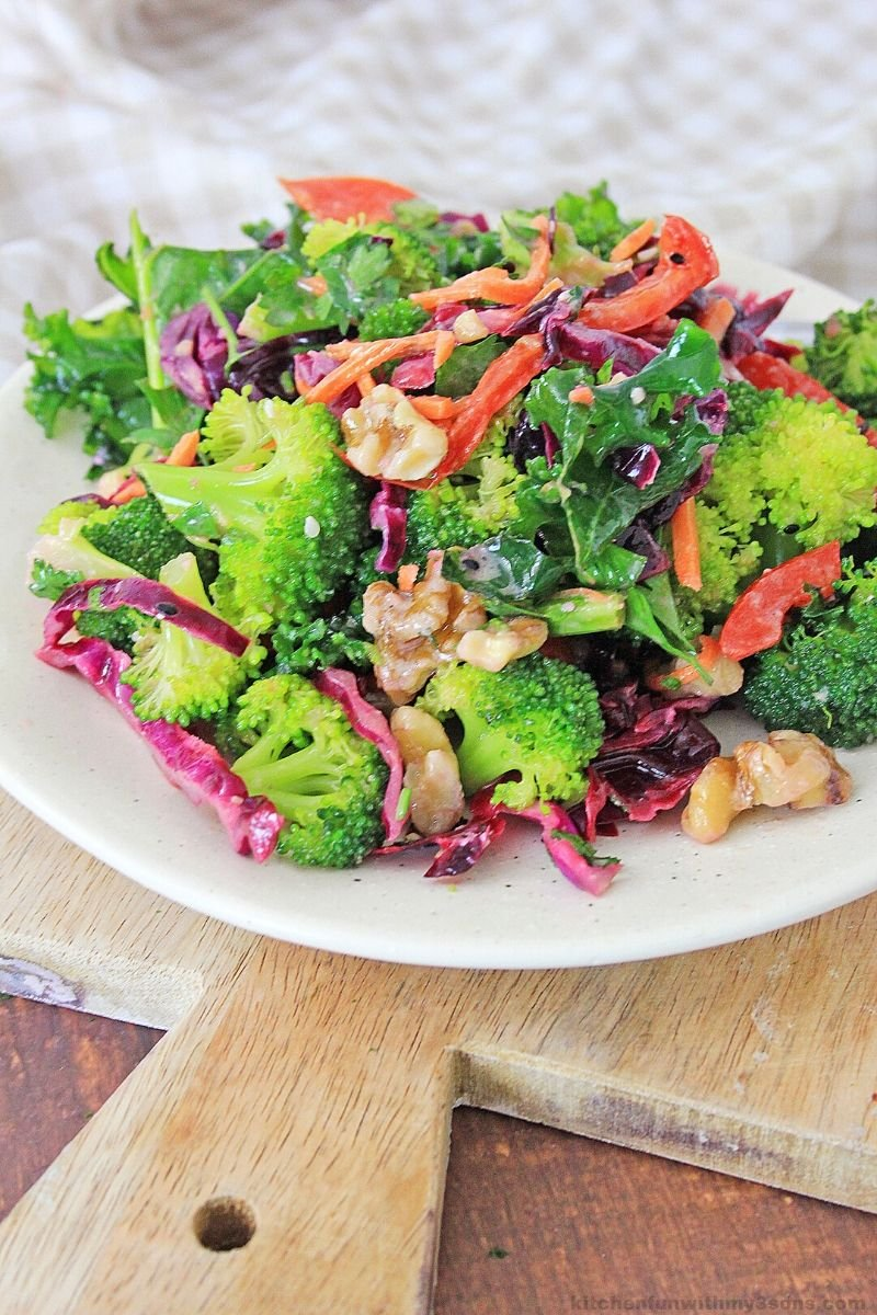 detox salad on a white plate