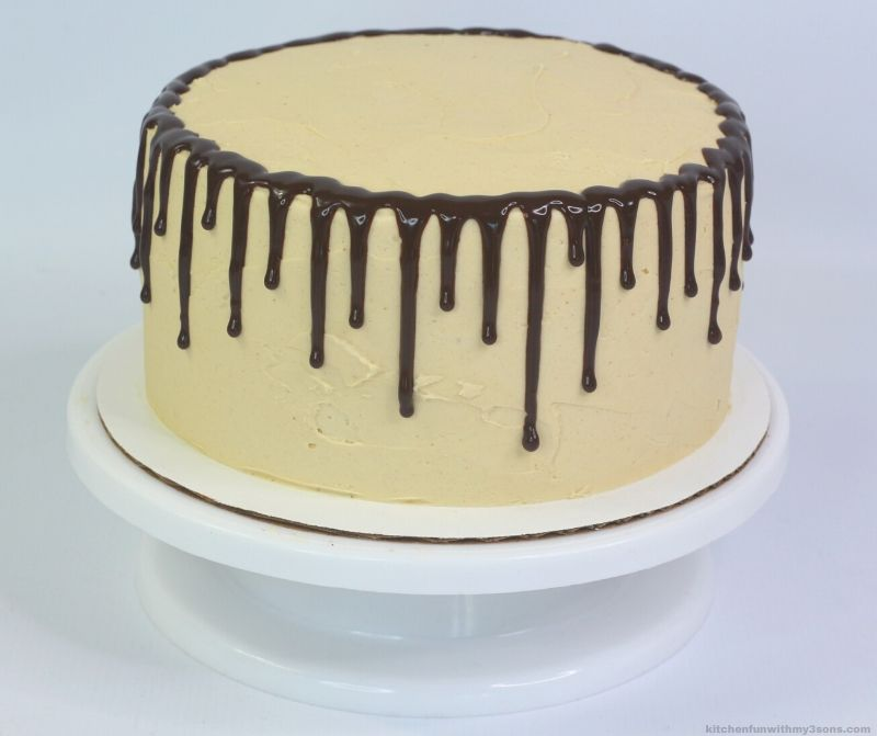 drizzle ganache over the edges of a cake
