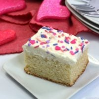 Valetine's White Sheet Cake