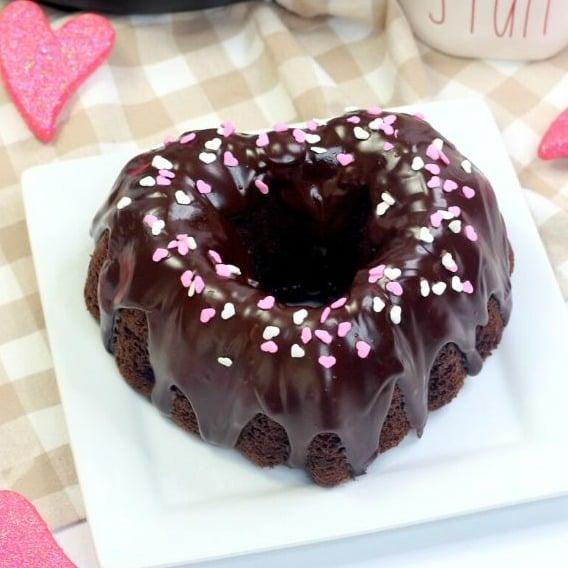 Instant Pot Bundt Cake for Valentine's Day
