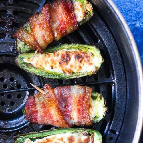 Air Fryer Bacon Wrapped Jalapeno Poppers