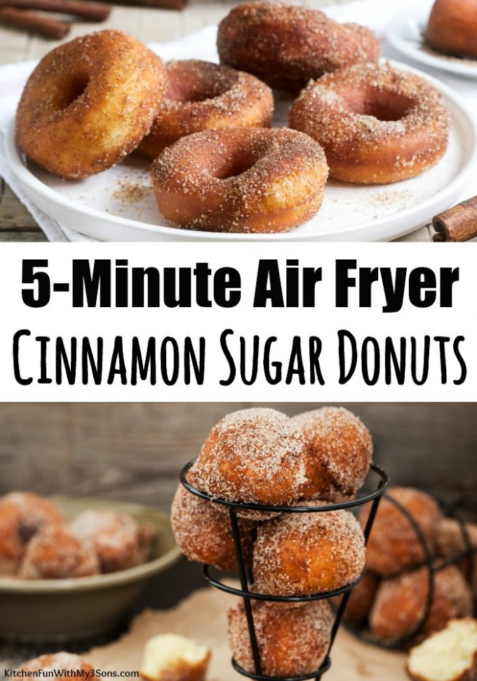 5-Minute Cinnamon Sugar Air Fryer Donuts