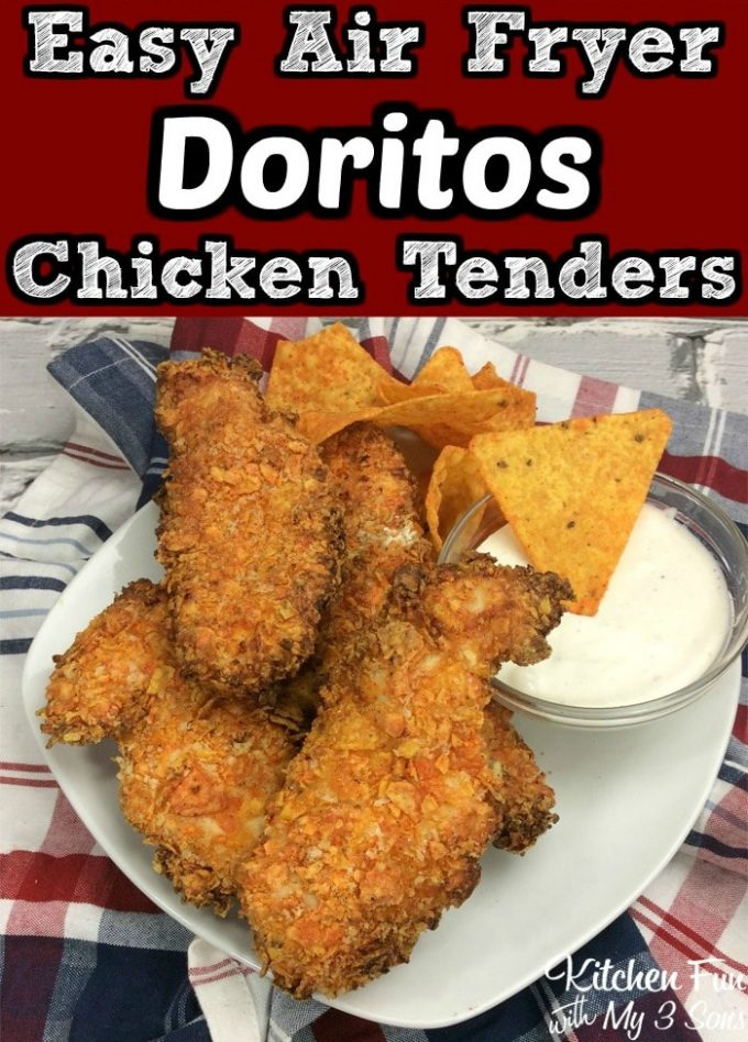 Air Fryer Doritos Chicken Tenders