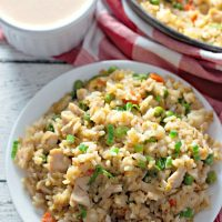 chicken fried rice with yum yum sauce