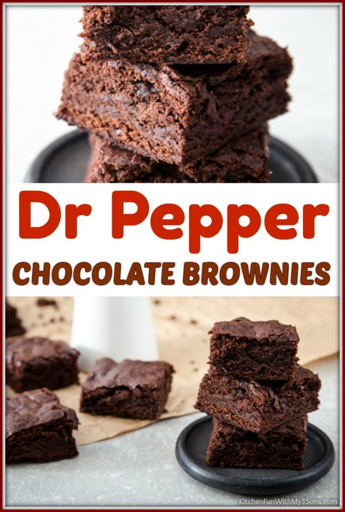 Dr Pepper Chocolate Brownies