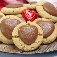 heart peanut butter blossom