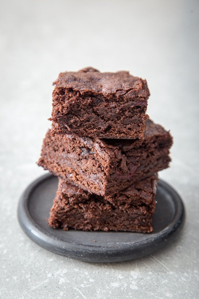 Dr Pepper Brownies Stacked