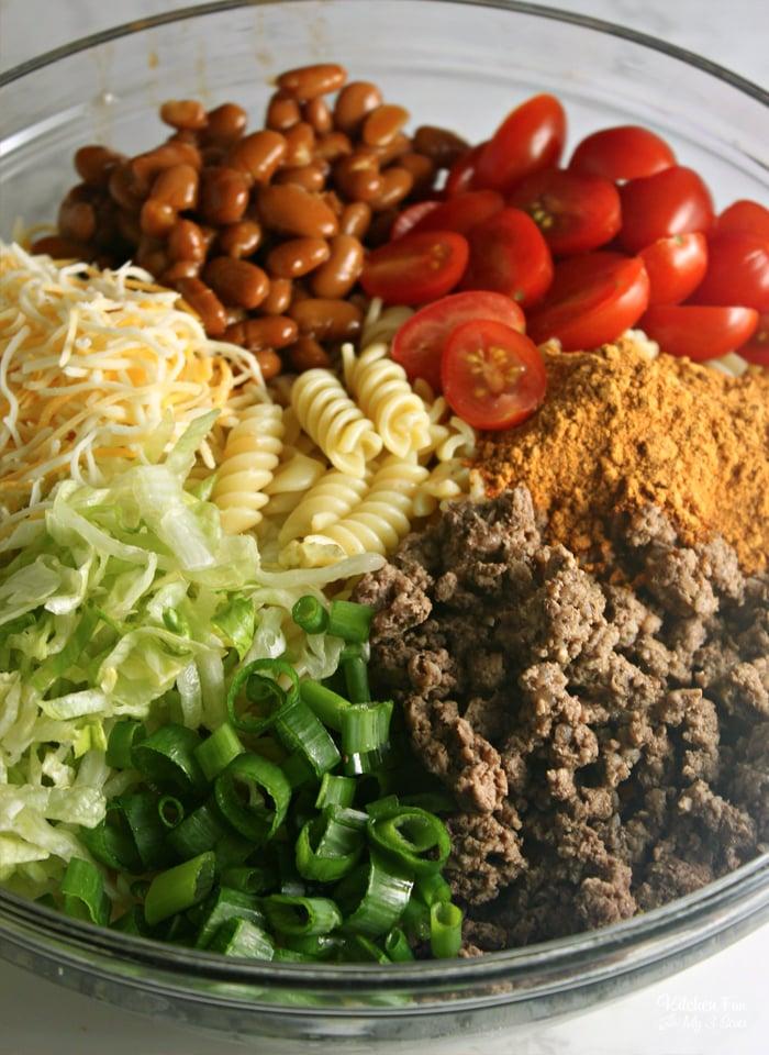 Doritos Pasta Taco Salad Ingredients