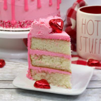 This Valentine Cake with cinnamon flavor and homemade vanilla frosting is the perfect Valentine's Day dessert.