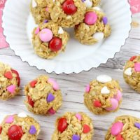 Valentine's Day Oatmeal Bites Recipe for pinterest