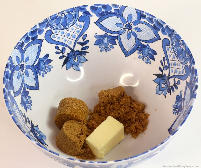 butter and brown sugar in a bowl