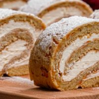 Carrot Cake Roll Slices