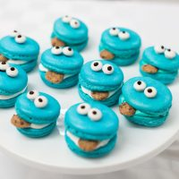 Cookie Monster Macarons Recipe