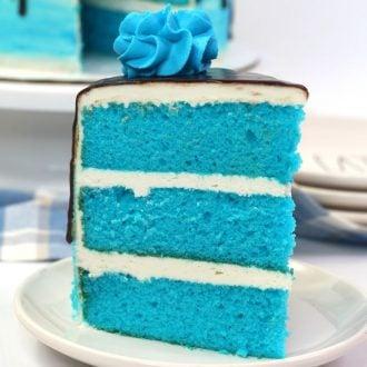 Layered Blue Velvet Cake