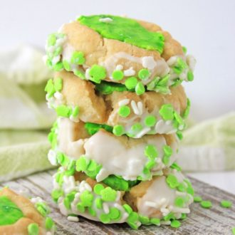 thumbprint st patrick's day cookies