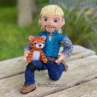 Crochet Tiger King Doll