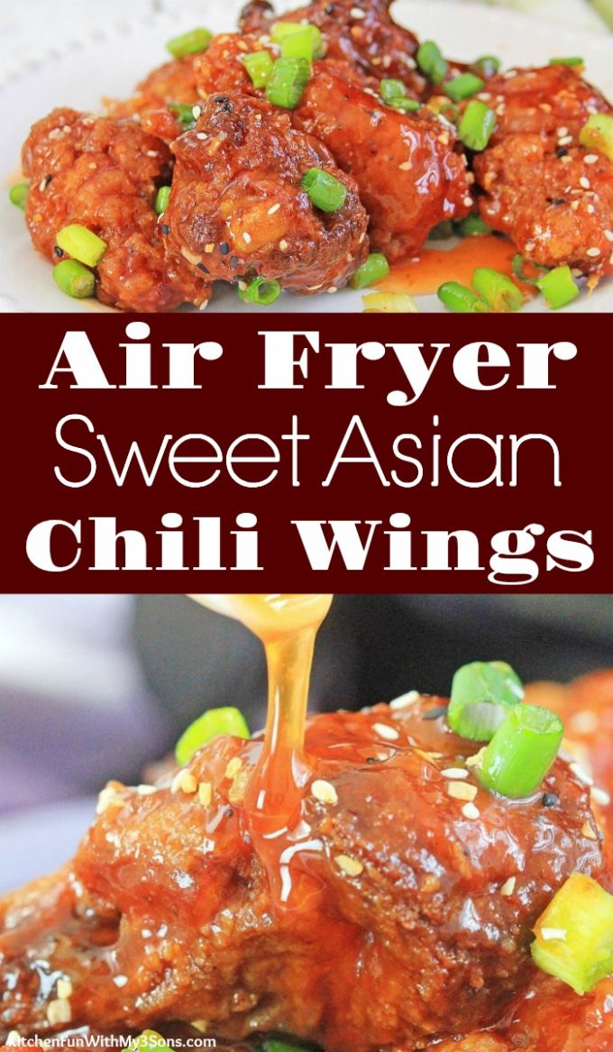 Air Fryer Sweet Asian Chili Wings