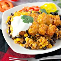 Mexican Tater Tot Casserole